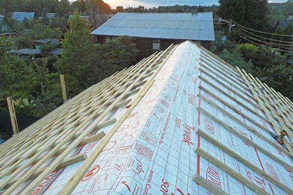 Пример работ по гидроизоляции крыши изнутри