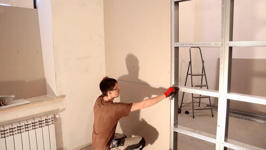 Как возвести стену из гипсокартона